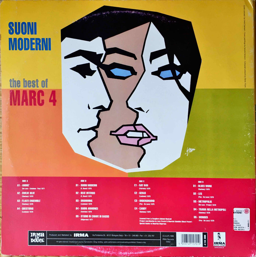 I Marc 4 ‎– Suoni Moderni - The Best Of Marc 4 LP sleeve image back