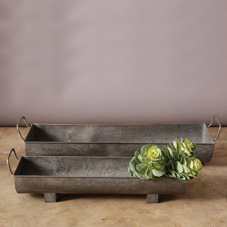 Rectangle Metal Planters / Air Plant Holders (set of 2)