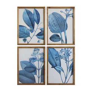 Wall Art Blue Botanical Plant Prints