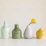 Multi-Color Ceramic Vases (set of 4)