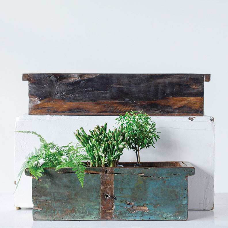 Reclaim Wood Planters / Reclaim Wood Containers (set of 2)