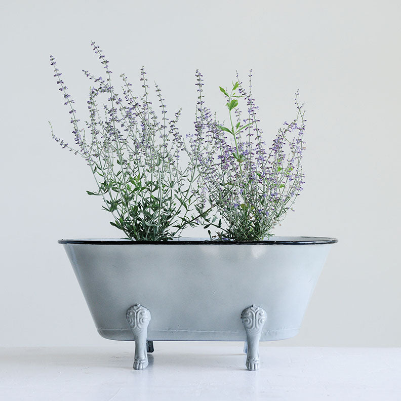 Metal Bathtub Planter