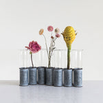Test Tube Vase / Hydroponic Rooting Vase/ Glass Flower Vases with Metal Holder