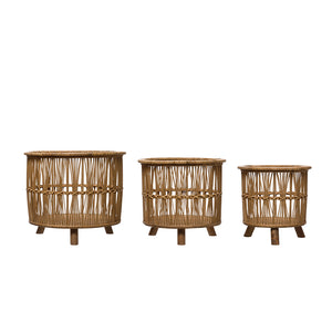 Bamboo Baskets / Plant Baskets / Bamboo Planters (set of 3)