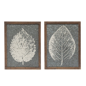 Leaf Metal Wall Décor (set of 2)