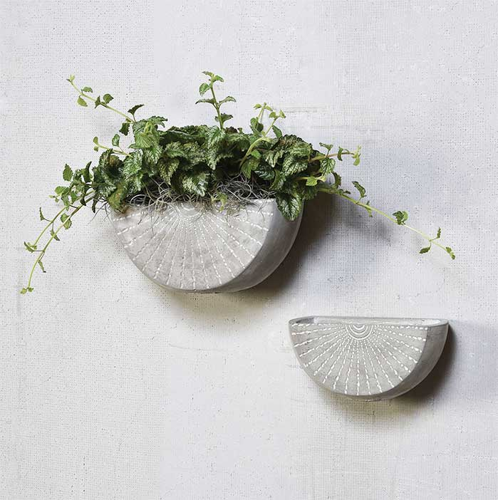 Cement Wall Planter
