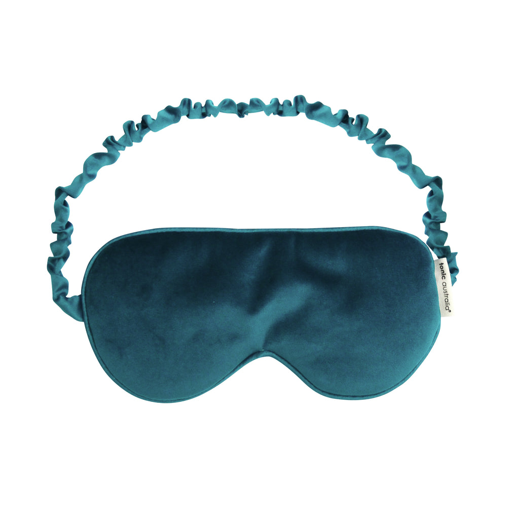 Teal Velvet Eye Mask