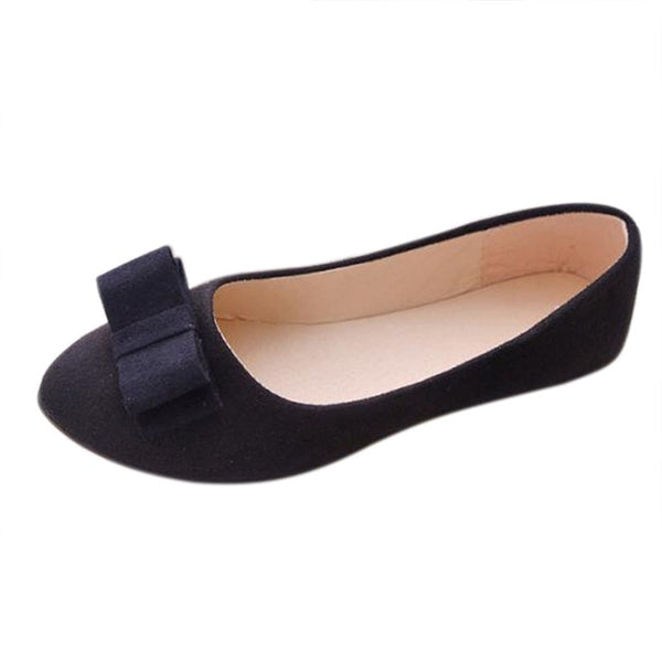 Casual Shoes Women Ballet Work Flats Bow Tie