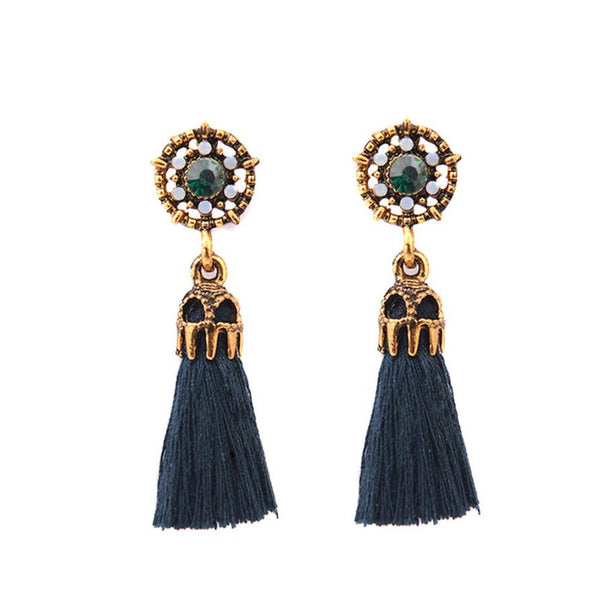 Vintage Style Drop Earrings Crystal Jewelry