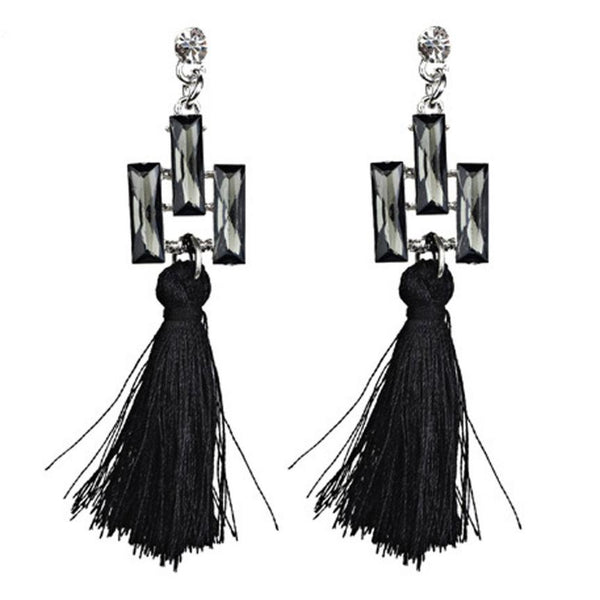Hanging Rope Tassel Drop Earrings for ladies