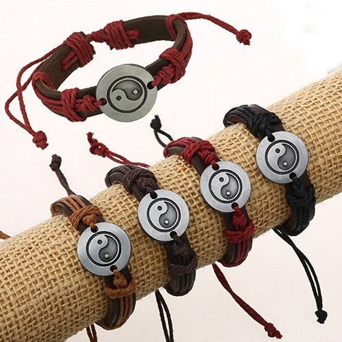 Women's Men's  Eight Diagram Faux Leather Charm Infinity Multilayer Bracelet