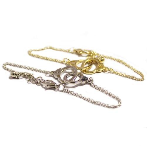 Fashion Concise Style Retro Cute Alloy Handcuffs Bracelet Chain Link