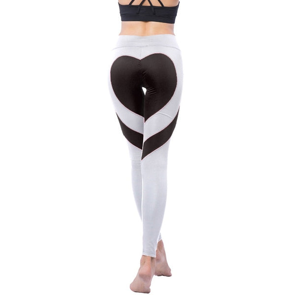Woman Heart-shaped Yoga Pants Fitness Hips