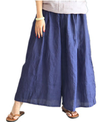 Elastic Waist Women Casual Loose Leg Pants