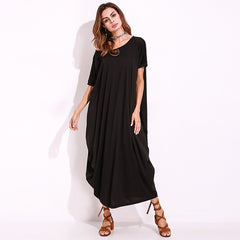 One Shoulder Baggy Kaftan Women Maxi Dress
