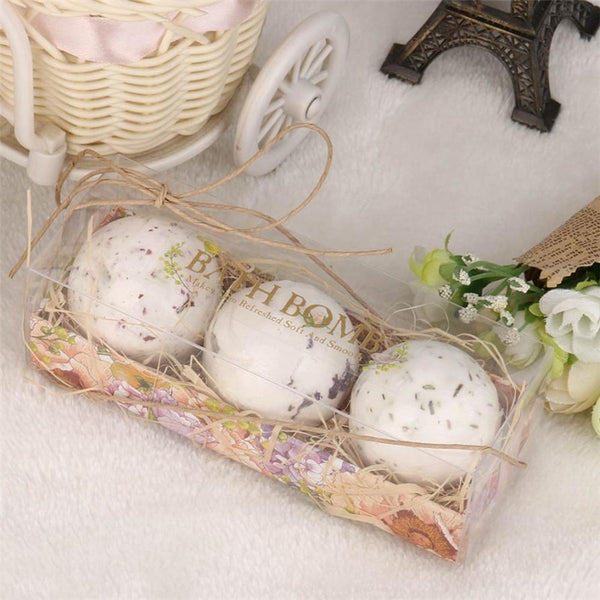 3pcs Body Cleaner Organic Bath Bombs Bubble Salts Ball