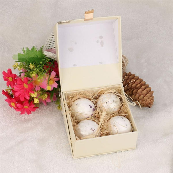 1Set 4pcs Bath Bombs Ball Essential Body Scrub