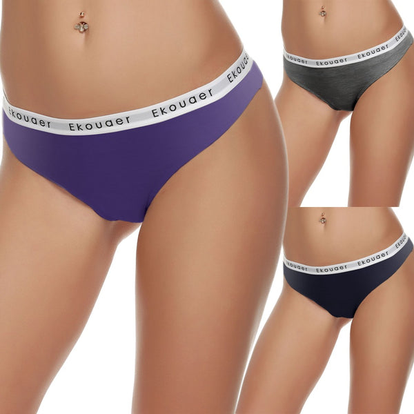 Women Seamless Thong Panty Briefs Underwear Intimates