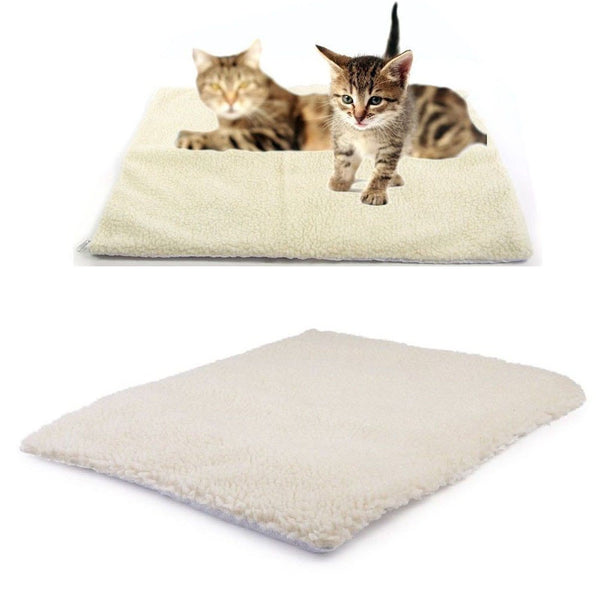 Self Heating Dog Cat Pet Bed Thermal Washable No Electric Blanket