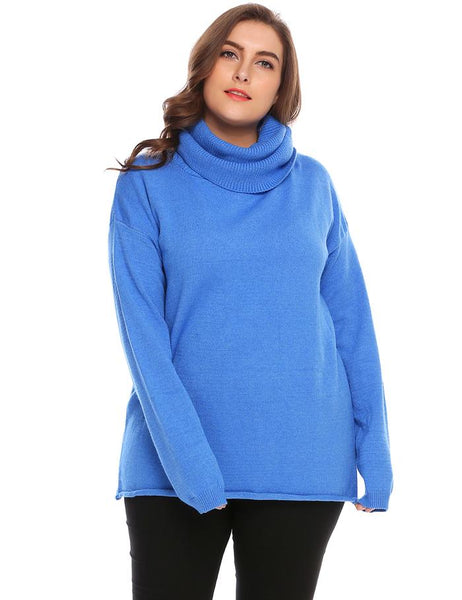Women Wool Sweater Tops Cowl Neck Long