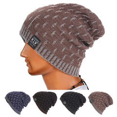 Men Knitted Hat Winter Bonnet Fashion Caps Warm