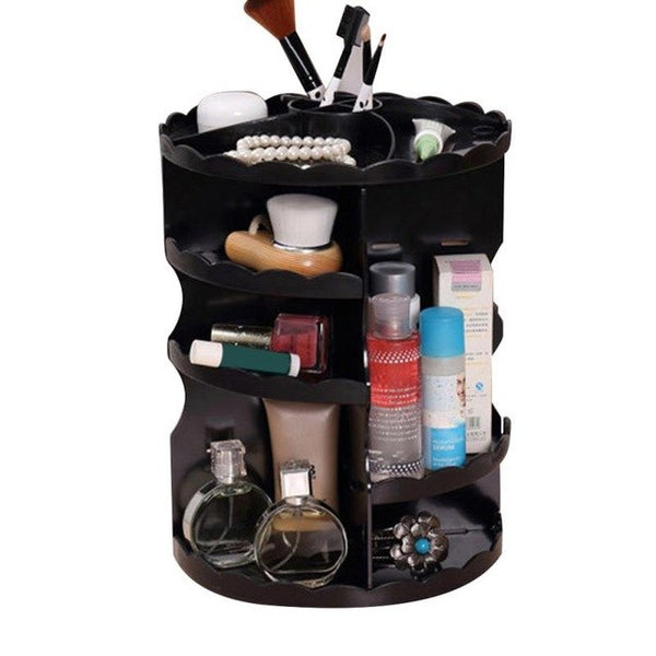Rotating Cosmetic Spinning Rack Storage Box