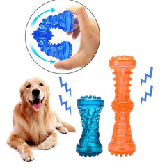 Dog Toy Chew Rubber Bell Squeaky Sound Funny Games Interactive Pacifier