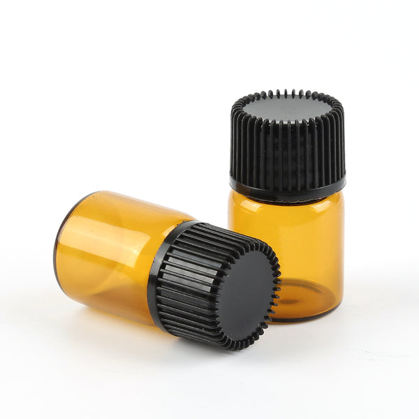 Mini Amber Glass Liquid Pot Aromatherapy Essential Oil