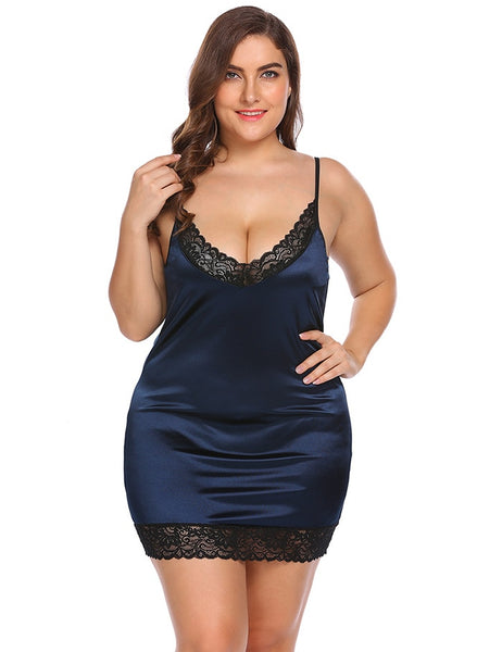 Women Lingerie Sleepwear Dress Lace Stretchy