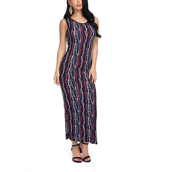 Women Maxi Summer Beach Dress Off Shoulder Casual