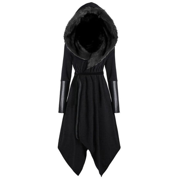 Women Solid Long Sleeve Hooded Coat Outerwear