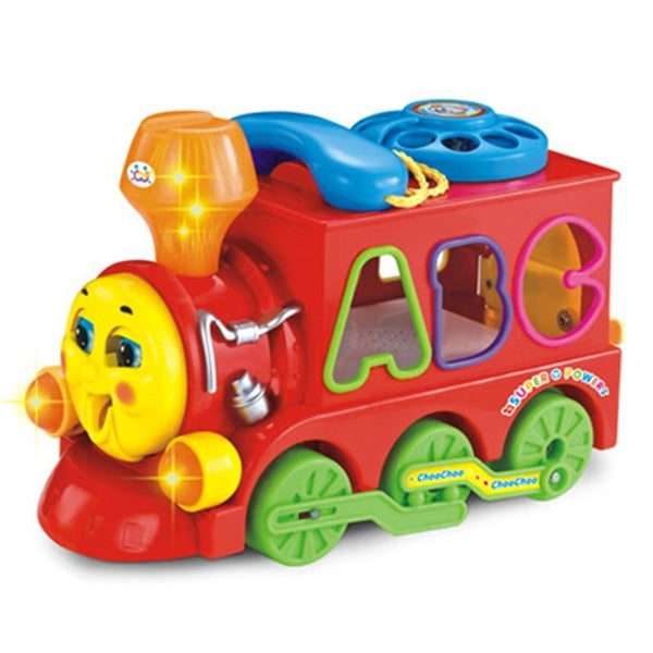 Children Battery Operated Smart Train Blocks Toy