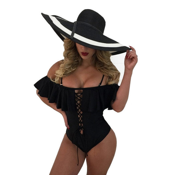 High Waist one piece Swimsuit Women
