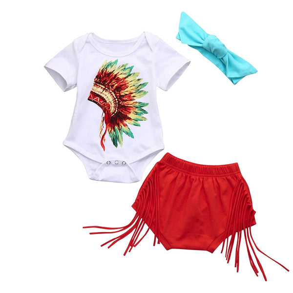 3Pcs Baby Summer Clothes Set Infant