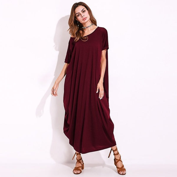 Women One Off Shoulder Maxi Dress Autumn Short