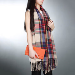 Outdoor Climbing Scarf Blanket Plaid Checked Wrap