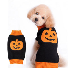 Halloween Dog Sweater Comfortable Festival  Vest Knitwear