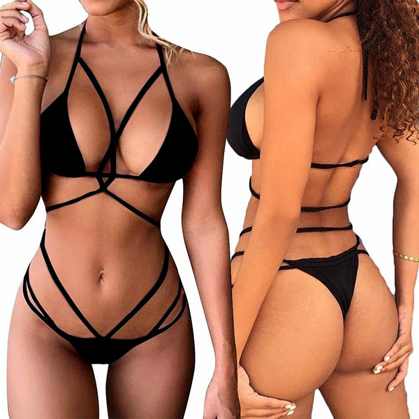 Sexy Bandage Halter Swimsuit Women