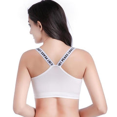 Letter Printed Push Up yoga Sports Bra