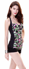 Women's Goddess Flora Print Flower Top Swimsuit