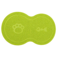 Pet Dog Puppy Cat Feeding Mat Pad Cute PVC Bed Dish Bowl