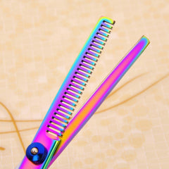 Titanium Rainbow Professional Pet Grooming Scissors set Cat