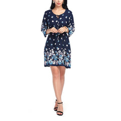 Casual Dress Women Summer Cotton Floral Print