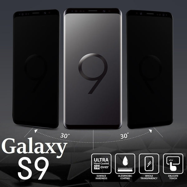 Samsung Galaxy S9 Privacy Full Screen Protector Anti-Spy Tempered Glass
