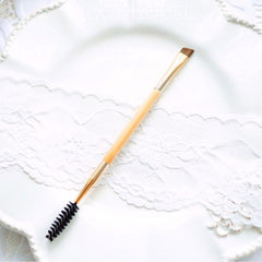 Professional Bamboo Handle Double Eyebrow Brush