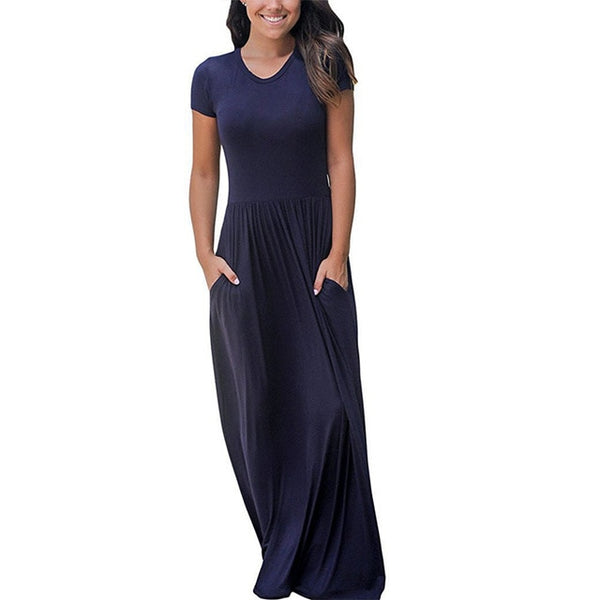 Oversized Summer Vintage Maxi Dress Women