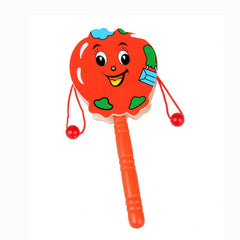 Rattle Pellet Drum Cartoon Musical Instrument Toy for Child