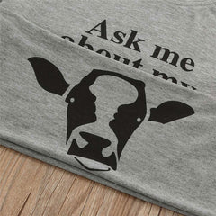 Boys T-shirt Summer Clothes Cow Inside Letter Tops