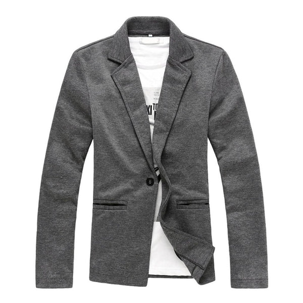 Suits Knitted Coat Outerwear Men's Jacket Blazer