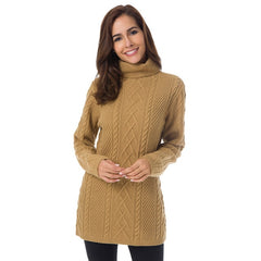 Women's Winter Solid Long Sleeve Warm Sweaters